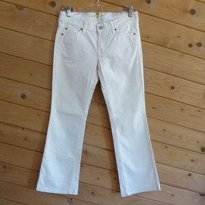 7 for all mankind Cream Bootcut Jeans Pants 27